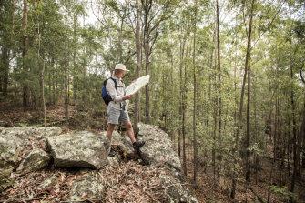 Bushwalking guide and map trainer Ashley Burke.