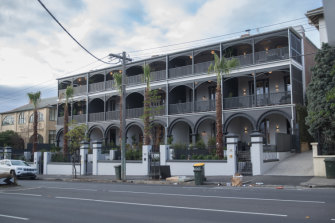 Before renovations on The Block began:  The old Oslo Hotel in St Kilda.