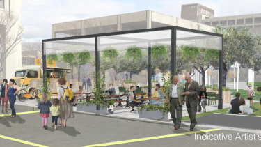 The vision for the revamped Woden town square.