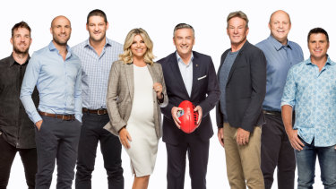 A previous revamped line-up for the Footy Show.