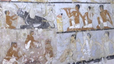 The tomb likely belonged to a high-ranking official known as Hetpet during the 5th Dynasty of ancient Egypt.