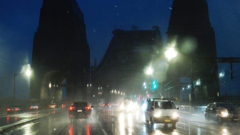 More than 63mm has fallen on Sydney since Sunday afternoon.