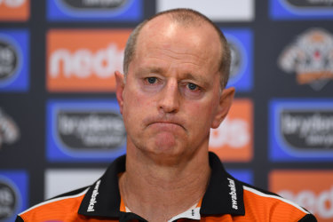 Wests Tigers coach Michael Maguire.