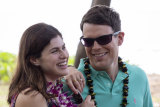 Jake Lacy and Alexandra Daddario as a newly married couple in The White Lotus.