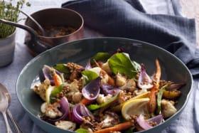 Warm roast veggie salad.