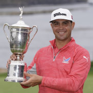 Breakthrough: Gary Woodland has taken out this year's US Open at Pebble Beach.