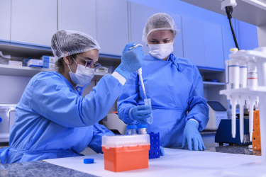 Scientists in Brazil work on a vaccine for the coronavirus. .