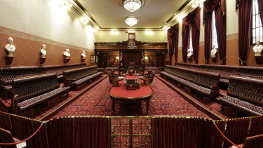 The NSW Legislative Council chamber has been empty since June.