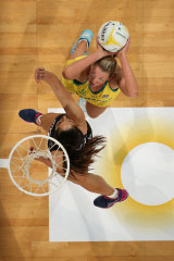 Caitlin Thwaites impressed in her 100th game for Australia.