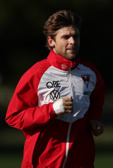 Rampe training with the injury on Thursday.