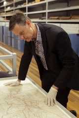 Martyn Killion at the NSW State Archives in Kingswood.
