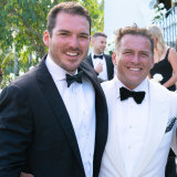 Peter and Karl Stefanovic during Karl's recent Mexican wedding.