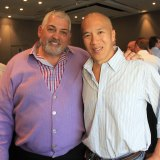 Charlie Teo (left) with Mick Gatto.