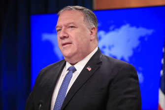 US Secretary of State Mike Pompeo. The State Department has claimed to have new evidence about the COVID outbreak in China without providing evidence.