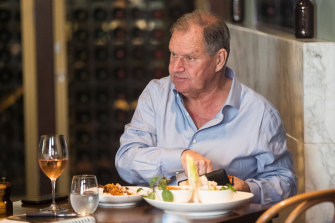 Robert Doyle at lunch in South Melbourne in October last year.