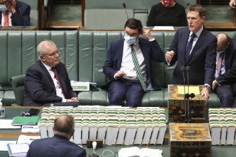 Christian Porter during question time in Parliament last month.