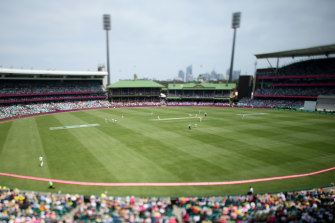 Although the SCG crowd will be halved, it will still pose a risk.