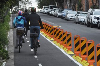 Separated bike lanes on major arterial roads have proved a hit with cyclists.