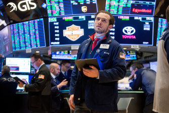 A trader works the floor of the New York Stock Exchange as markets tumbled last week.