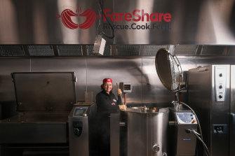 FareShare chef Crickette Derjeu in the charity's kitchen.