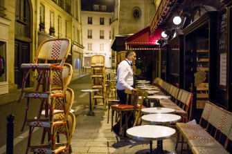 "French cafes and restaurants are closed under the latest nationwide lockdown. Residents are only meant to leave their homes for ""essential"" purposes."