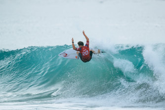 Cibilic will battle four other surfers in a bid to be crowned world surfing champion.