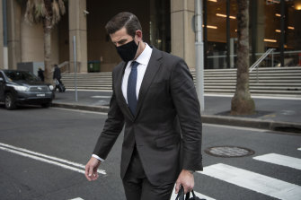 Ben Roberts-Smith leaving the Federal Court in Sydney on Tuesday.
