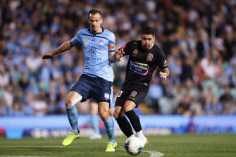 Staying on: Sydney FC captain Alex Wilkinson has committed to another year at the Sky Blues.