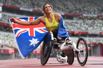 Madison de Rozario capped Australia's Paralympic tilt in style on Sunday.