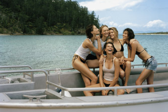 From left: Alexandra Agoston, Gemma Ward, Georgia Fowler, Victoria Lee and Charlee Fraser.
