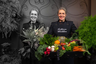 Victoria Whitelaw has gone from florist to fruit and vegetable deliverer.