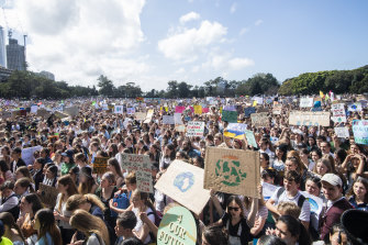 Up to 80,000 people rallied at the Domain in Sydney last year.