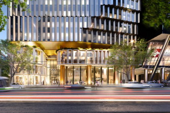A render for Amazon's new home in the first tower at 555 Collins Street.