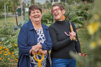 """Glenda Maes (left) and Cathy McCallum: """"Glenda needed that reassurance that she was destined for greater things. I could just see it in her."""""""