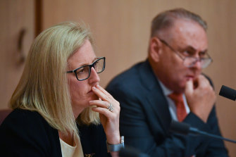 Labor senators Katy Gallagher and Don Farrell, who have grilled witnesses in the Senate inquiry into sports rorts.