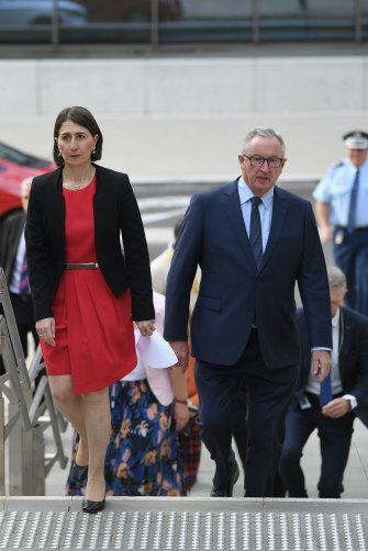 NSW Premier Gladys Berejiklian and NSW Minister for Health Brad Hazzard on March 23.