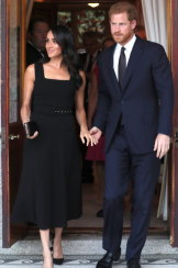 Prince Harry and Meghan Markle attend a Summer Party at the British Ambassador's residence at Glencairn House.