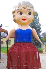 Bungendore's giant kewpie doll, Pansy.