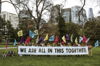 Climate activists in the city: Extinction Rebellion protesters will camp in Carlton Gardens.