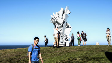 The focal point of the outdoor exhibition is Marks Park on the south Bondi headland.