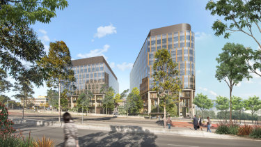 Artist's impression of theCharter Hall Group and Western Sydney University's proposed Innovation Quarter, Westmead, Sydney.