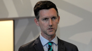 Queensland minister Mark Bailey's private email was first investigated in 2017.