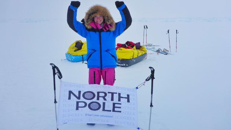 Jade at the North Pole.