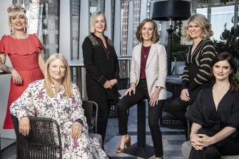 From left: Holly Ringland, Bruna Papandrea, Sarah Lambert, Kacie Anning, Kate McLennan and Kate McCartney.