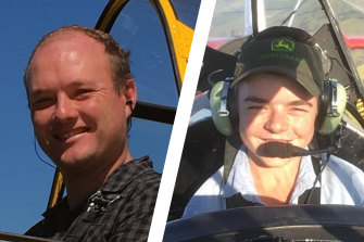 Hayden Bruce and Tom Sheather died in a plane crash on Tuesday near Canberra.