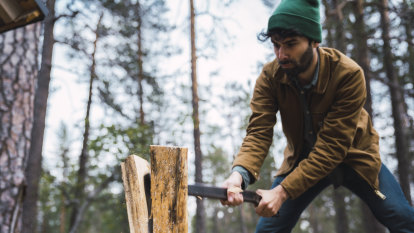 Logging on: the grounding vibe of chopping wood