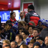 Security is seen during the round 13 match between the Carlton Blues and the Western Bulldogs.