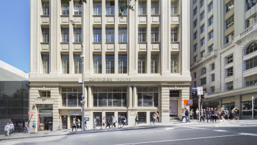 Cavendish House on the corner of Russell Street and Flinders Lane, Melbourne.