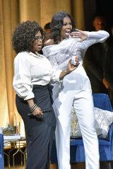 Michelle Obama with Oprah.