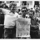 Supporters of the Bill outside Parliament House on May 15, 1984
